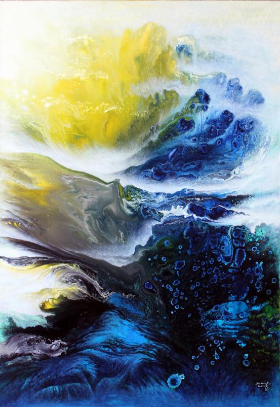 世界绘画大融合——漏痕彩墨画横空出世